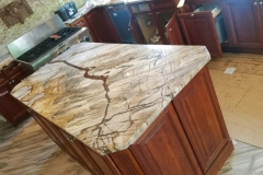 Custom Exotic Quartzite Kitchen Counter in Nutley, NJ