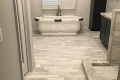 Beautiful Bathroom With Natural Marble in New Vernon, NJ