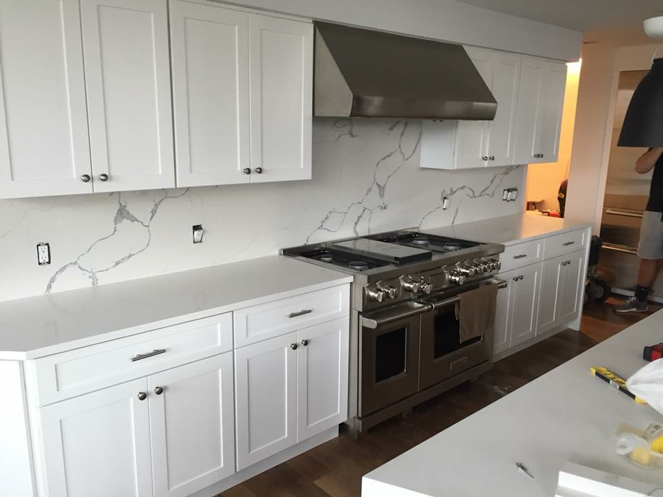 Quartz Kitchen Island Pantry And Counters Install In