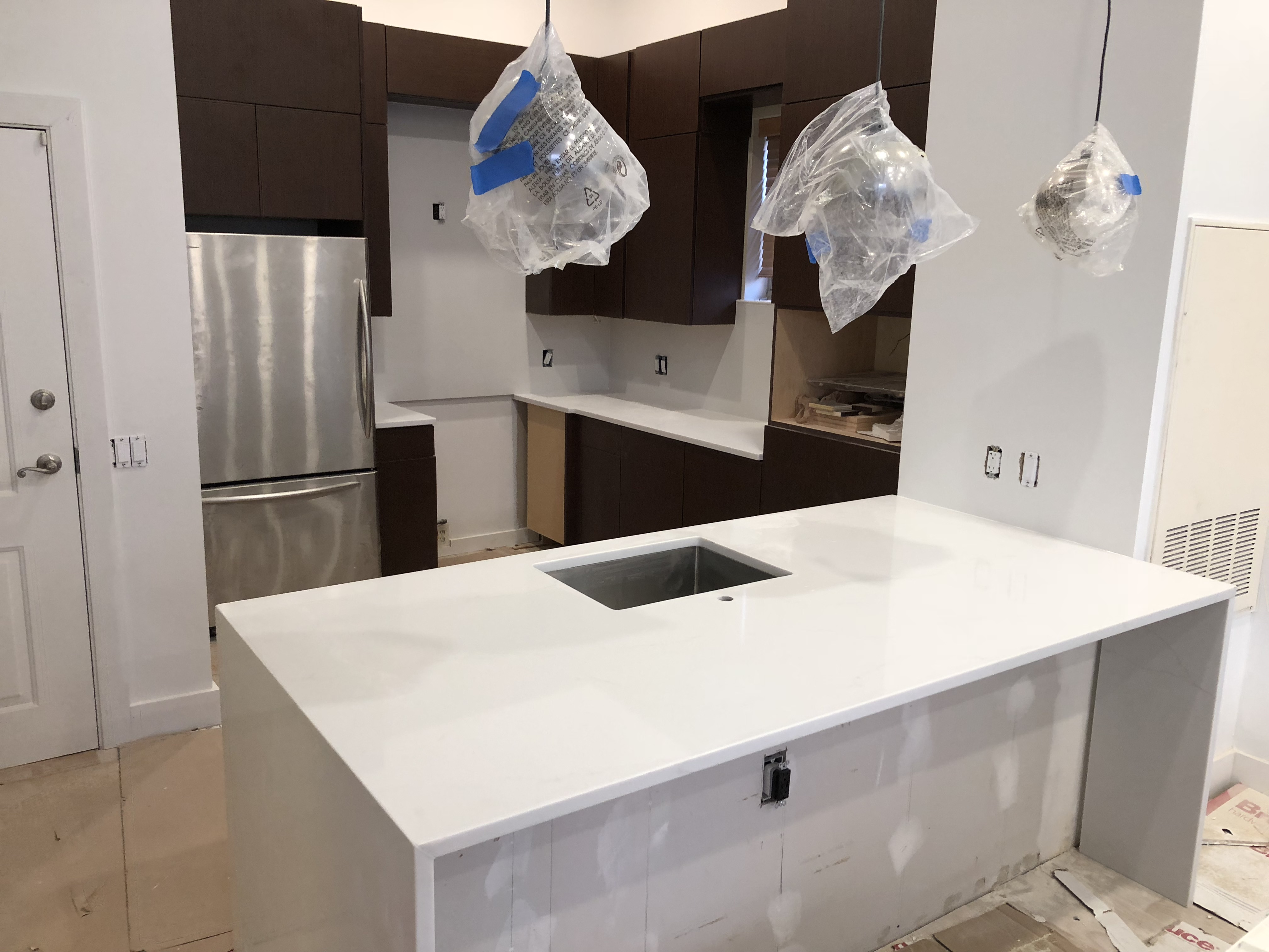 Kennedy Tile Marble Quartz Kitchen Island Pantry And Counters Install In Hoboken Nj Kennedy Tile Marble