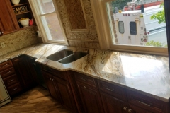 Custom Exotic Quartzite Kitchen Counter in Nutley, NJ