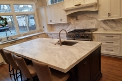 White Quartzite Kitchen Remodel Project in Nutley, NJ