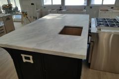 White Quartzite Kitchen Remodel Project in Nutley, NJ